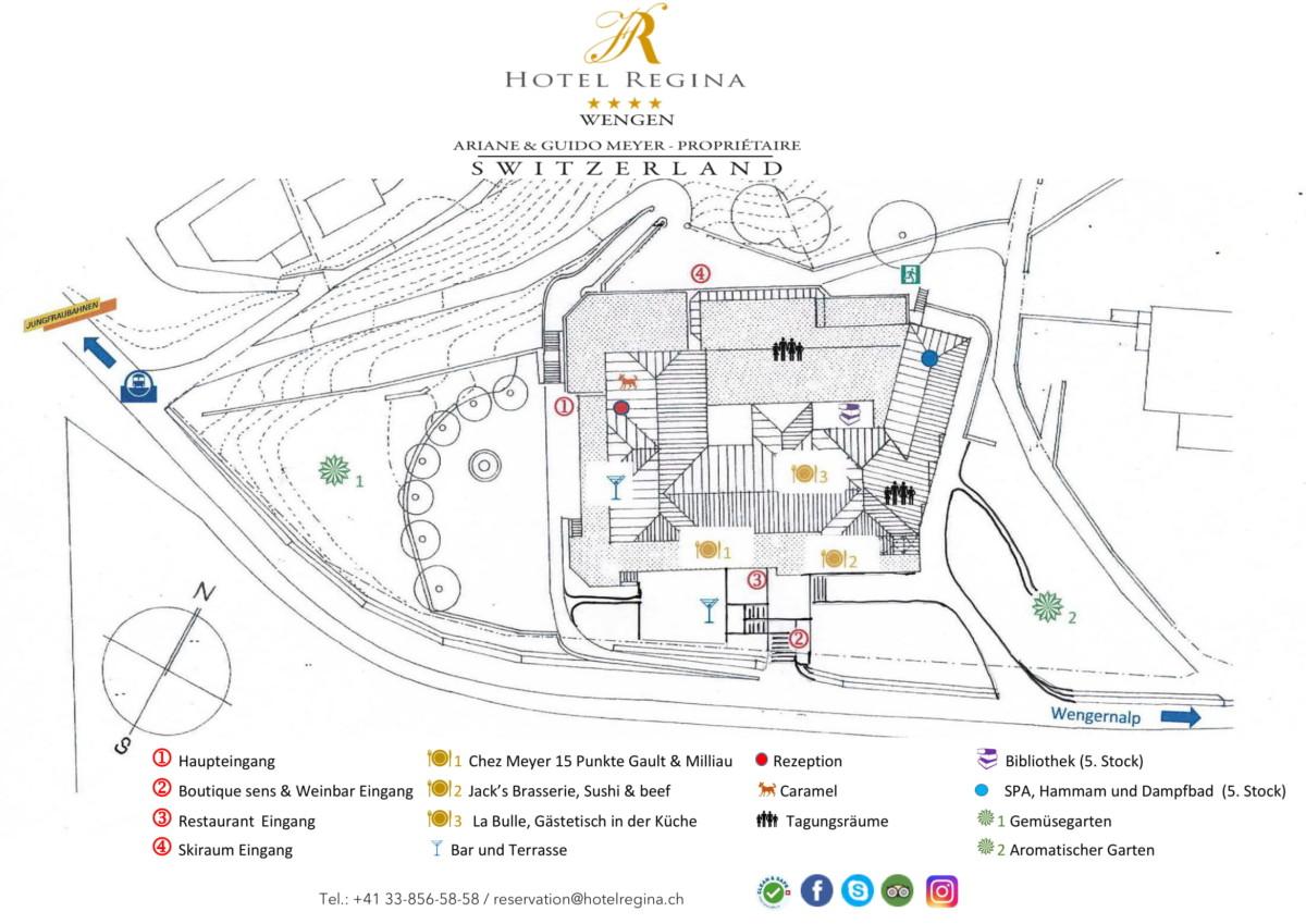 Lageplan Hotel Regina