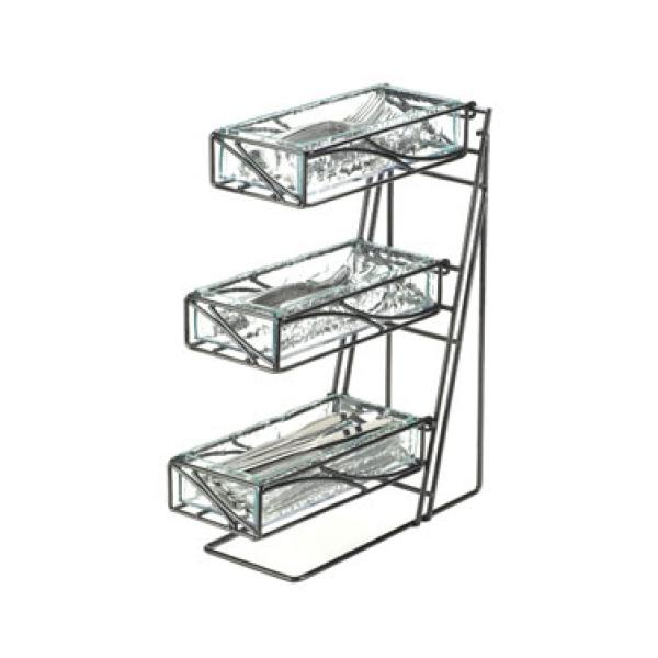 Cal-Mil 1235-39-60 Condiment/Flatware Display, 3-tier, 5-1
