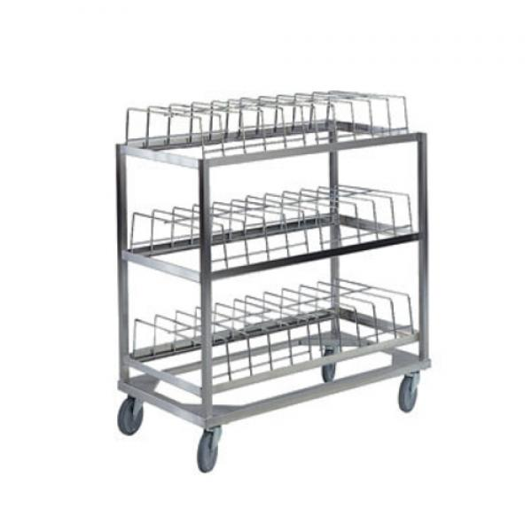 Dome Drying Rack, (3) shelf, 60 dome capacity, stainless