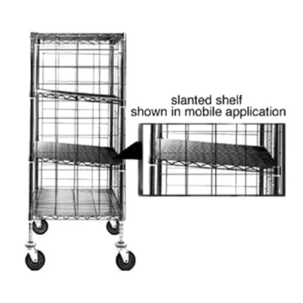 Eagle SL2148C Slanted Shelf, wire, 48