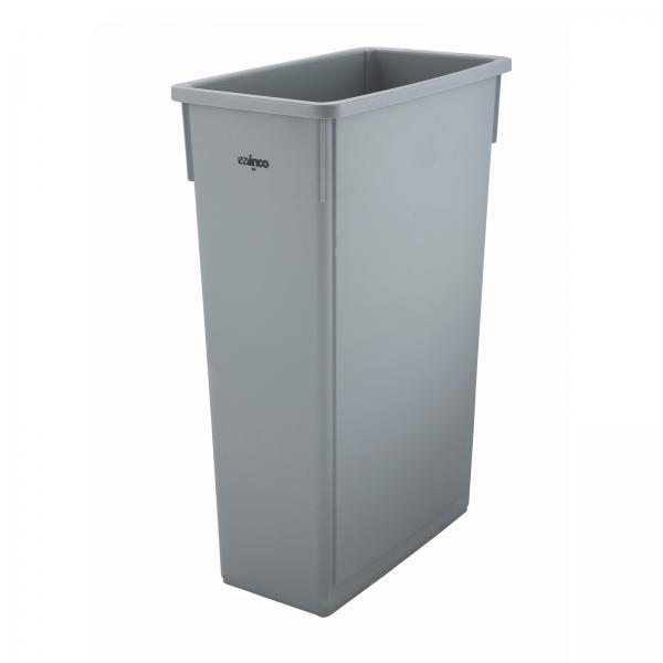 undercounter kitchen trash can 32 inch undermount sink winco ptc-23sg slender can, 23 gallon, gray (lid not ...