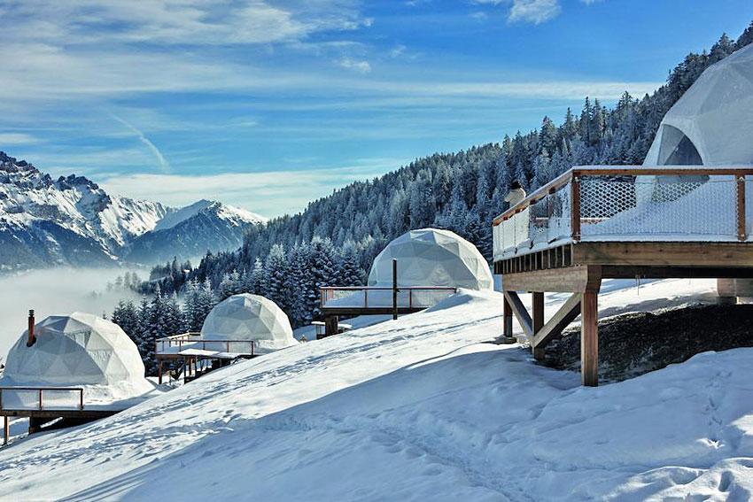 Whitepod  Village digloos ecoluxe dans le Valais