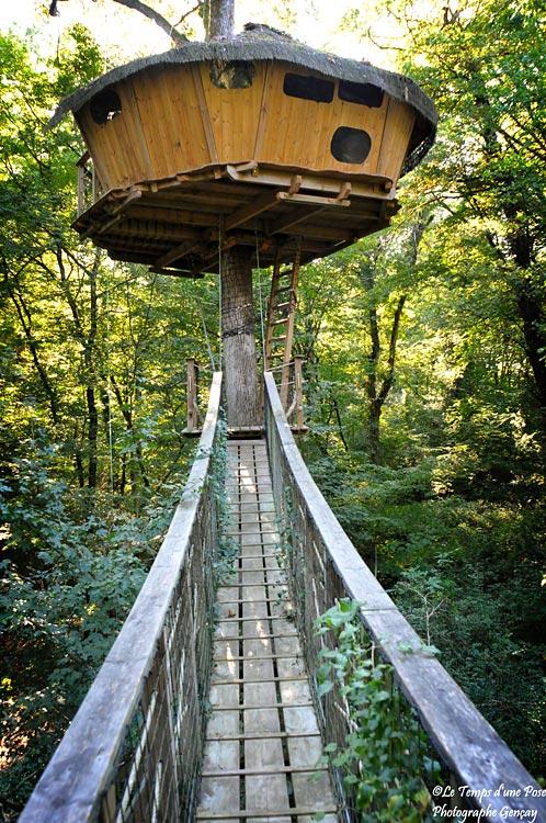 Parc de la Belle  Cabane dans les arbres en PoitouCharentes  Hotelsinsolitescom