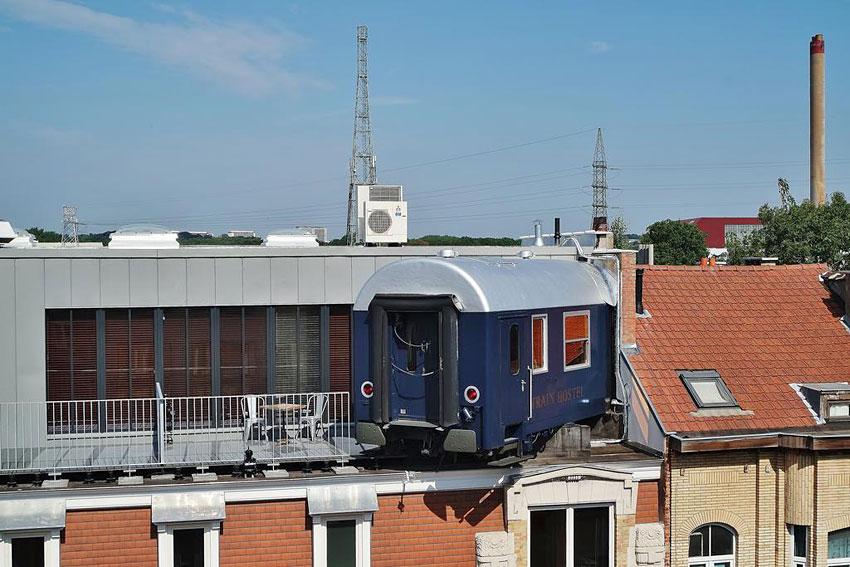 Train Hostel Bruxelles  Auberge de jeunesse insolite