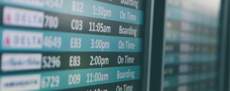 Airport Arrivals and Departures schedule