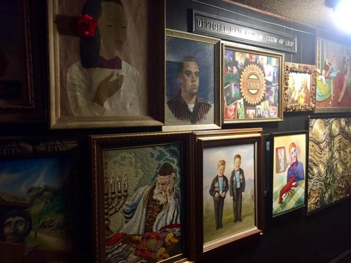 "A look at various displays of ""bad art"" at the Rendezvous in Seattle."