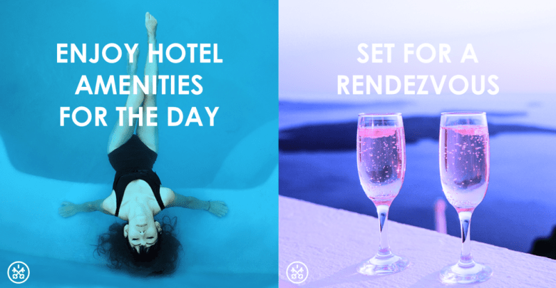 Enjoy hotel amenities for the day, relax in luxury with HotelsByDay.