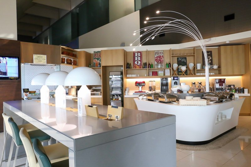 Business lounge in Singapore's Changi Airport.