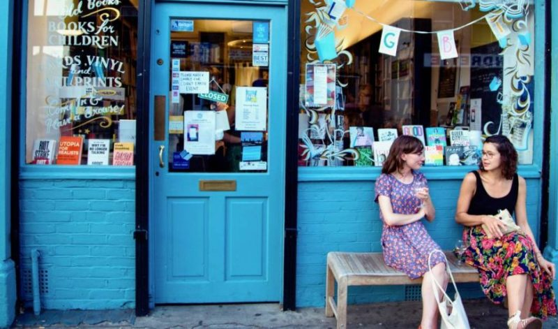 Pages of Hackney, an independent bookstore in London's Clapton neighbourhood.