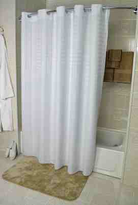 72 X74 Ezy Hang Dynasty Style Casino White Hotel Shower Curtain 100 Polyester Starting At 16 36 24