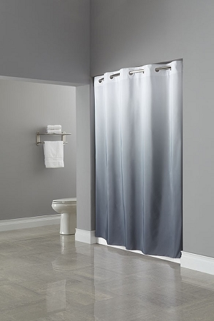 hookless the graduate ombre 100 polyester shower curtain 71x77 brown beige each