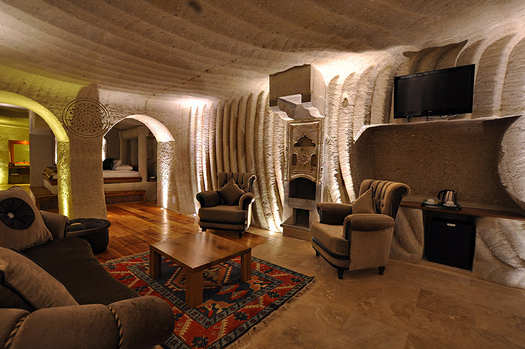Spend A Night In The Comfort Of Your Own Cave  At