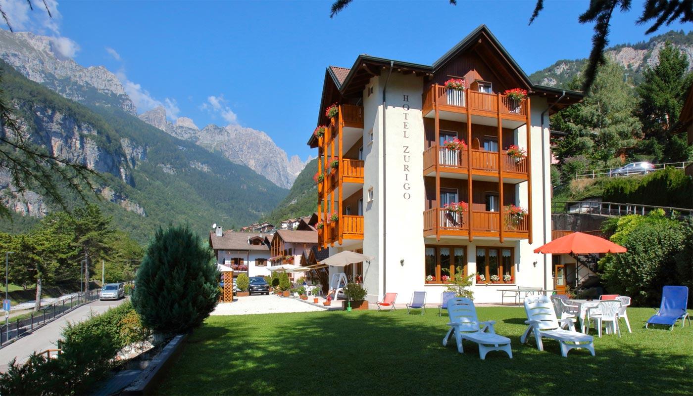 Hotel Zurigo Molveno vacanza in Trentino per tutta la