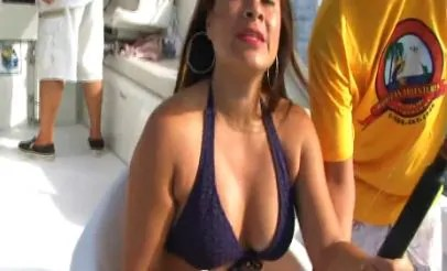 Hot Mexican MILF fishing in her bikini
