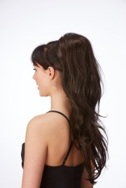 glam clip in ponytail hot hair