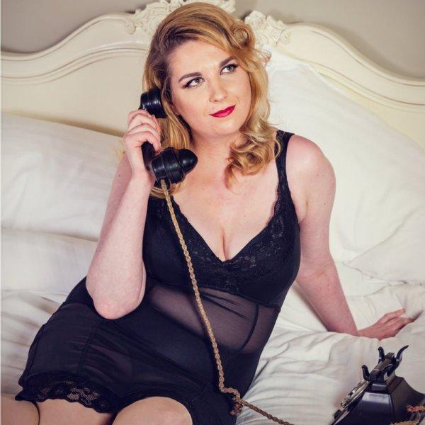 Liz Slip Black Mesh Glamour