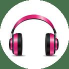 Pink Earphones