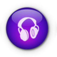 Purple headphones
