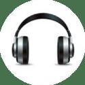 Grey earphones