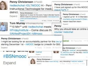 MOOC tweet compilation