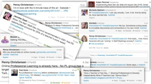 Professional Learning Tweet Collage