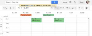 Scheduling Healthy Habits on the Calendar
