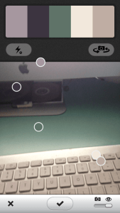 Adobe Kuler App selects colors from real life