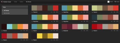 Adobe Kuler online themes