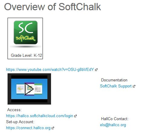 OVERVIEW of SoftCahlk Table