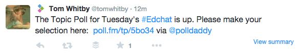 Poll for #EdChat