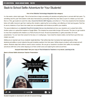 ShellTerrell Back to School Selfie Adv
