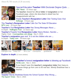 Screenshot of Teacher Resignation Letters