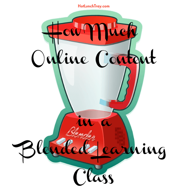 How much online content in a blended learning class