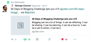 Tweet on 30 Day Blog Challenge 2017-01-04 14.36.24