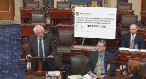 Tweet Poster board in Senate