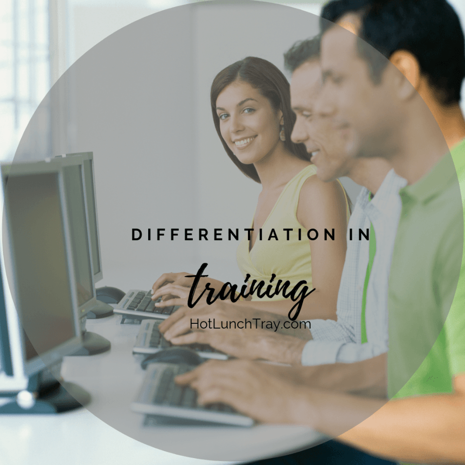 Differentiation in Training