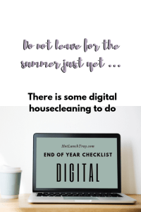 End of Year DIGITAL Checklist PIN