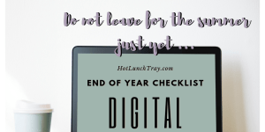 End of Year Digital Checklist Tweet