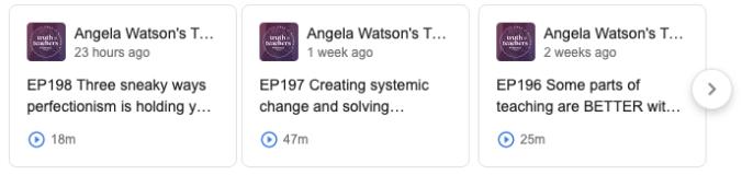Angela Watson's Podcast Link