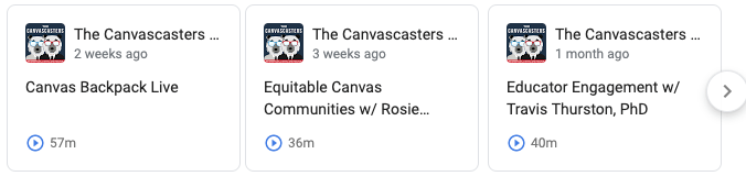 The Canvascasters Podcast Link