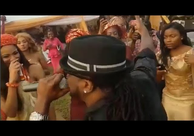 Rudeboy (P-Square) Surprises Couple At Their Wedding