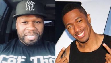 """Photo of Amid Eminem Beef; 50 Cent Endangers Nick Cannon With """"Mankini"""" Photo"""
