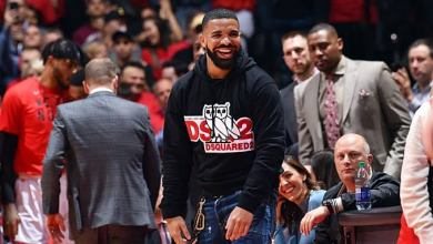 Photo of Drake Jokingly Disses Quavo & Justin Bieber During Raptors Game
