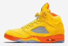 "Photo of Air Jordan 5 ""Solar Orange"" Release Date and Photos"