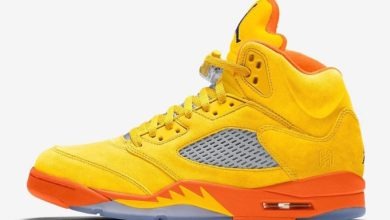"Photo of Air Jordan 5 ""Solar Orange"" Release Date and Photos"