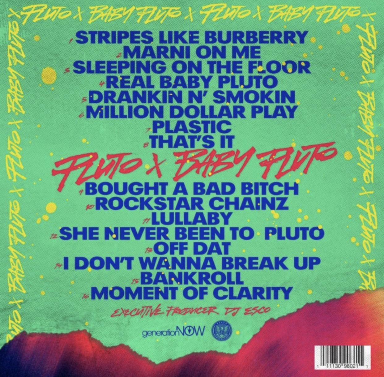 'Pluto x Baby Pluto' Album tracklist