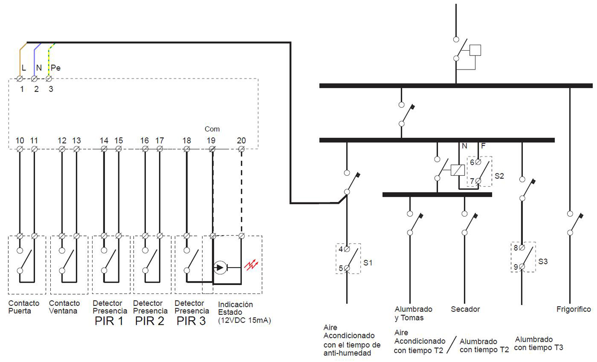 Key card/Window Occupancy PIR Motion Detector Module