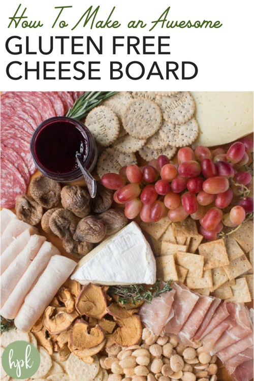Need ideas for how to make an awesome Gluten Free Cheese Board? These are simple steps to DIY it for your next party or for a holiday. Your cheese board will be easy to put together and great to put on display. Click to find out how to do it! #glutenfree #cheeseboard #appetizer #howto
