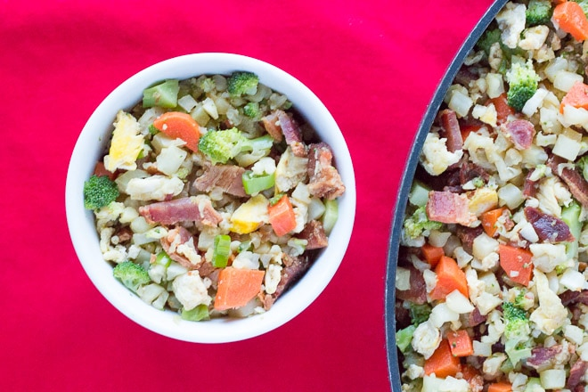 Bacon Fried Caulirice - Whole30