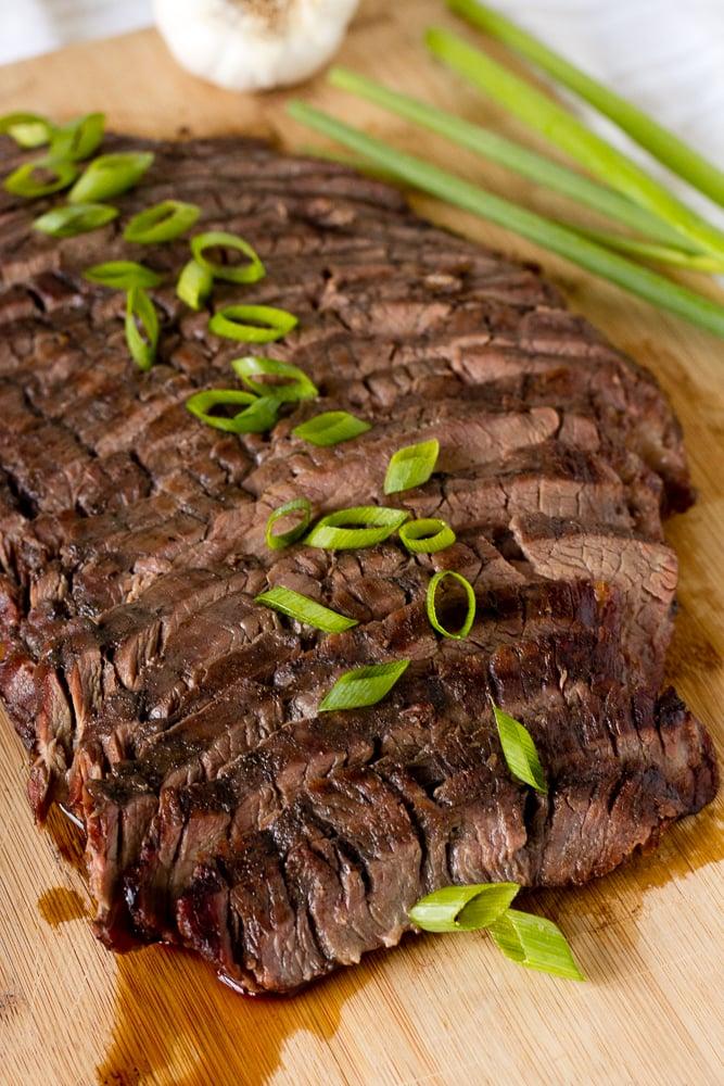 sliced asian flank steak